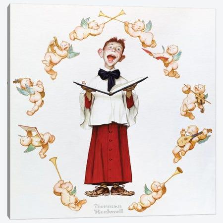 Choir Boy Canvas Print #NRL305} by Norman Rockwell Art Print