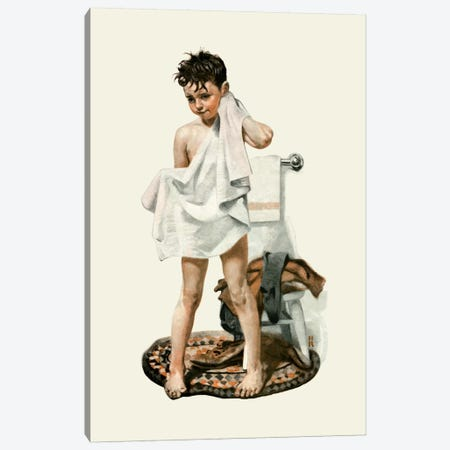 C-L-E-A-N Canvas Print #NRL311} by Norman Rockwell Art Print