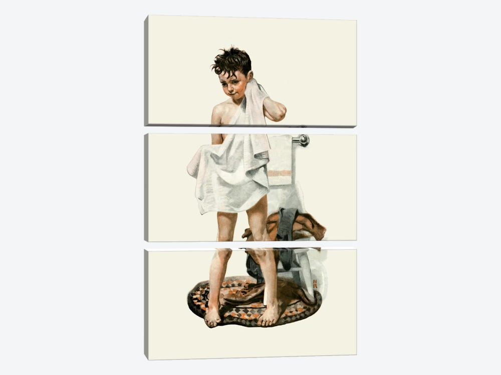 C-L-E-A-N by Norman Rockwell 3-piece Art Print