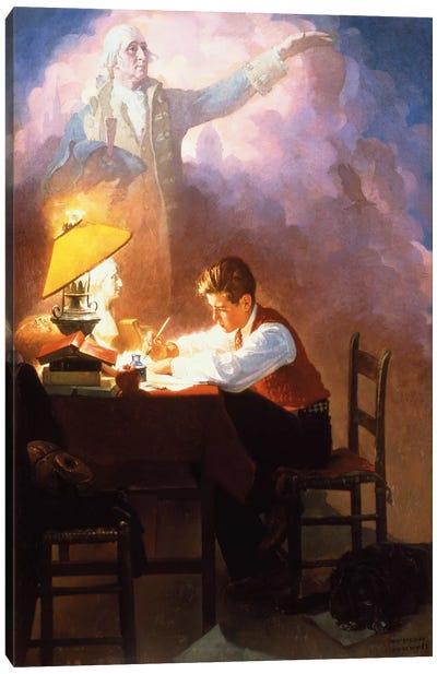 Washington's Bicentennial Birthday Canvas Art Print