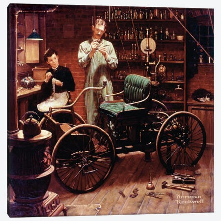 The Revolution that Started in a Shed at Night Canvas Print #NRL314} by Norman Rockwell Canvas Artwork