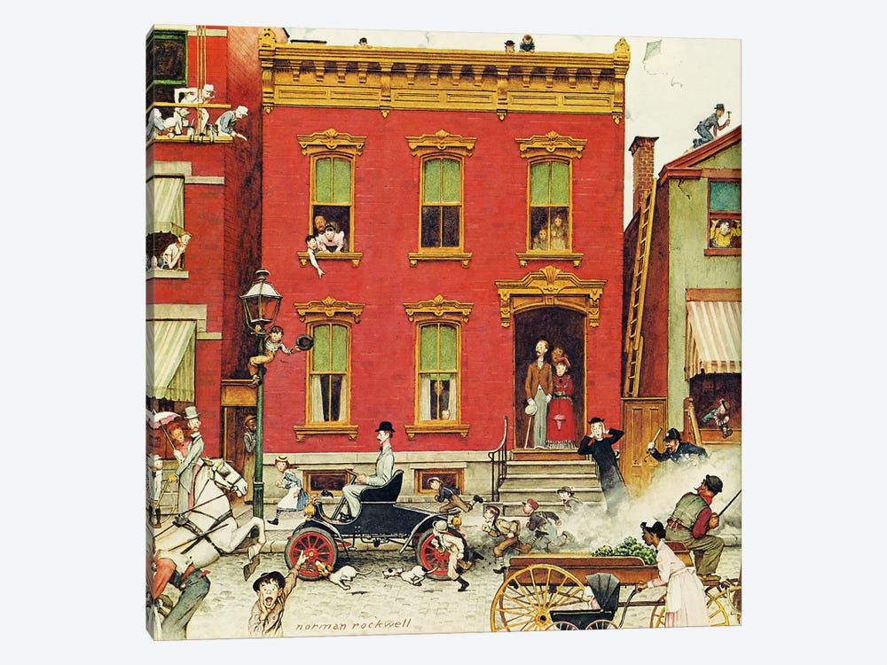 The Street Was Never the Same Again by Norman Rockwell 1-piece Canvas Art Print