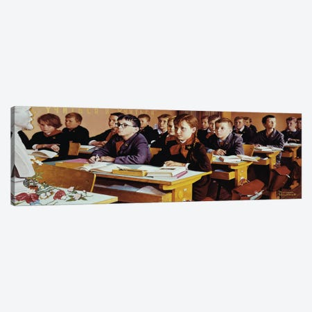 Education  Canvas Print #NRL31} by Norman Rockwell Canvas Print