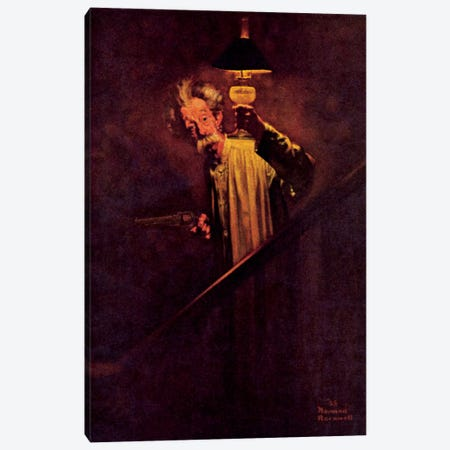 What a Protection Electric Light Is Canvas Print #NRL324} by Norman Rockwell Canvas Art Print