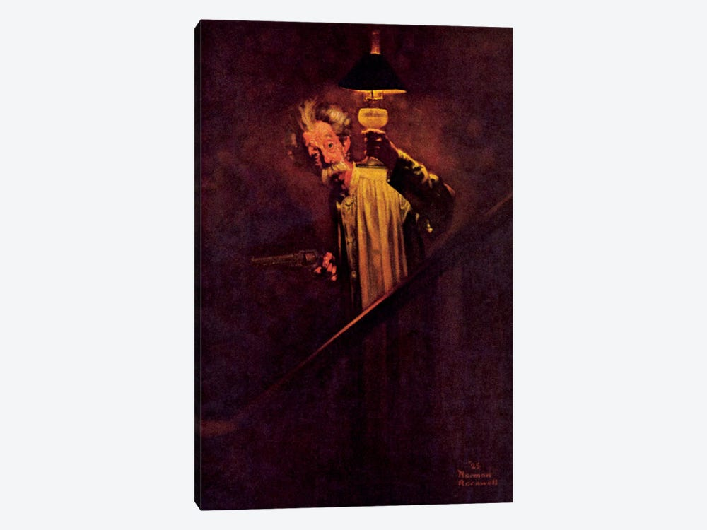 What a Protection Electric Light Is by Norman Rockwell 1-piece Art Print