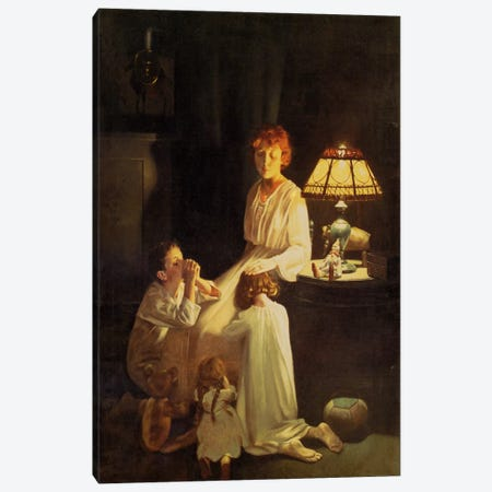 The Stuff of which Memories Are Made Canvas Print #NRL328} by Norman Rockwell Canvas Artwork