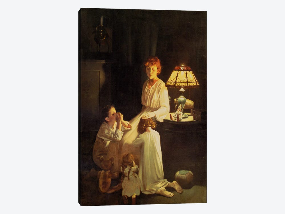 The Stuff of which Memories Are Made by Norman Rockwell 1-piece Canvas Art Print