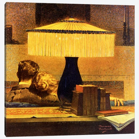 All's Right Says the Light Canvas Print #NRL329} by Norman Rockwell Canvas Wall Art