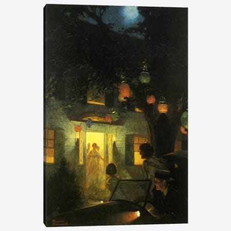 And the Symbol of Welcome Is Light Canvas Print #NRL330} by Norman Rockwell Canvas Art Print