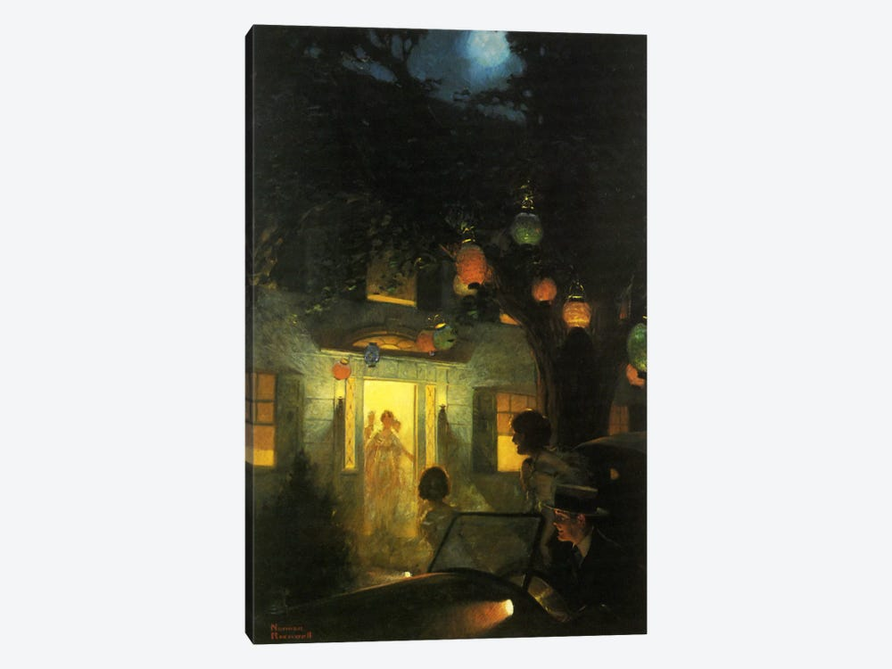 And the Symbol of Welcome Is Light by Norman Rockwell 1-piece Canvas Artwork