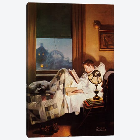 And Every Lad May Be Aladdin Canvas Print #NRL332} by Norman Rockwell Canvas Print