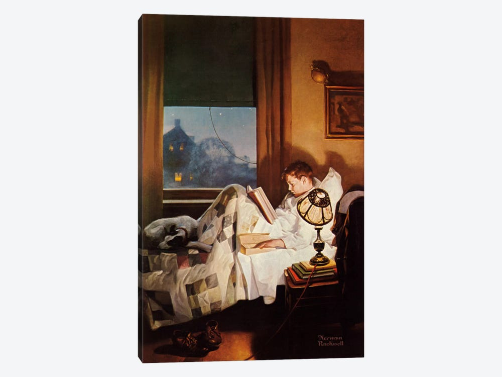 And Every Lad May Be Aladdin by Norman Rockwell 1-piece Canvas Artwork