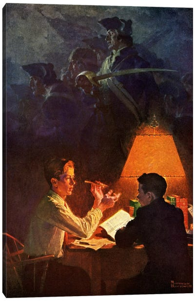 Ethan Allen and His Green Mountain Boys Canvas Print #NRL334