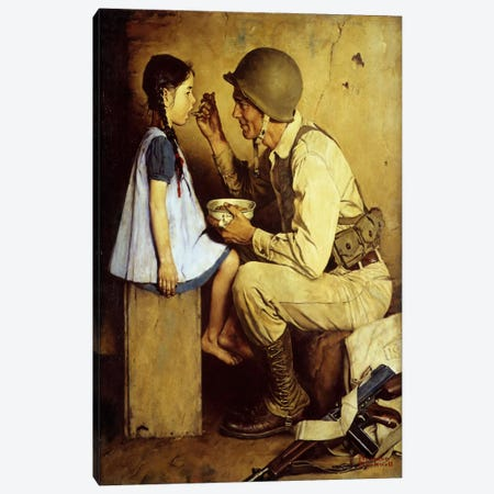 The American Way Canvas Print #NRL337} by Norman Rockwell Canvas Art