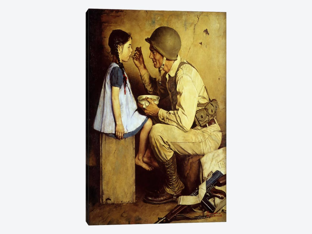 The American Way by Norman Rockwell 1-piece Canvas Art Print