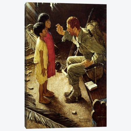 O'er the Land of the Free Canvas Print #NRL338} by Norman Rockwell Canvas Print