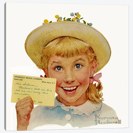 Portrait of Barbara Sullivan Canvas Print #NRL342} by Norman Rockwell Canvas Art