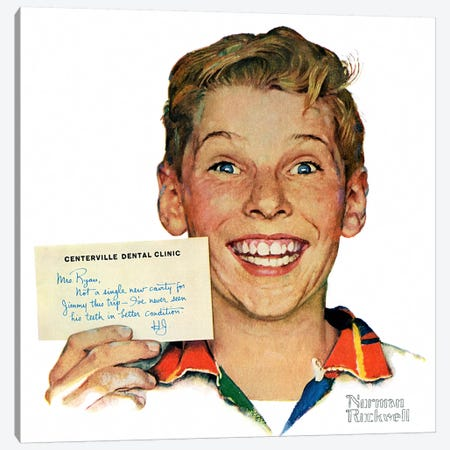 Portrait of Jimmy Ryan Canvas Print #NRL343} by Norman Rockwell Canvas Wall Art