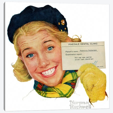 Portrait of Patricia Patterson Canvas Print #NRL344} by Norman Rockwell Art Print
