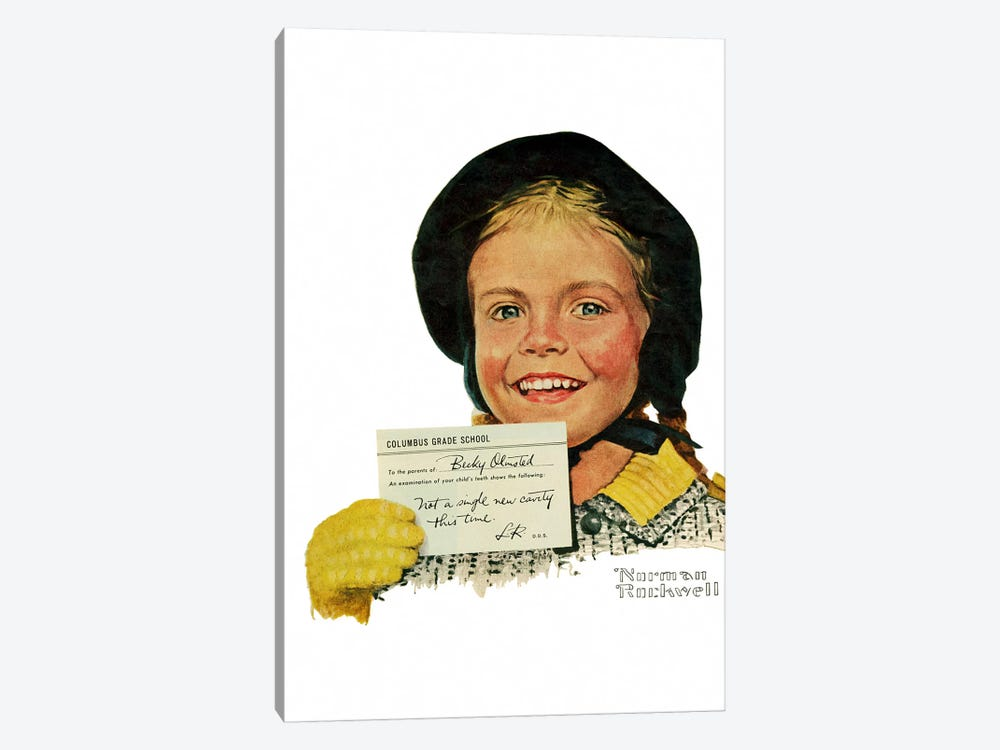 Portrait of Becky Olmstead by Norman Rockwell 1-piece Art Print