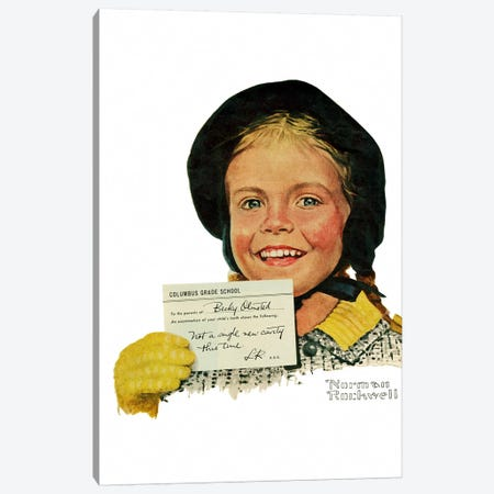 Portrait of Becky Olmstead Canvas Print #NRL346} by Norman Rockwell Canvas Art Print