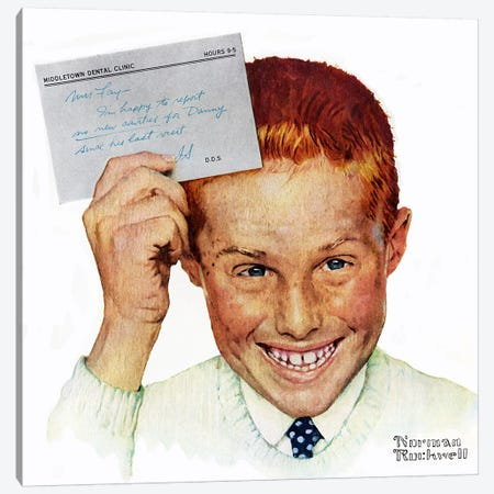 Portrait of Danny Fay Canvas Print #NRL350} by Norman Rockwell Canvas Print
