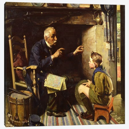 """If Your Wisdom Teeth Could Talk They'd Say, """"Use Colgate's"""" Canvas Print #NRL353} by Norman Rockwell Art Print"""