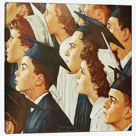 Bright Future for Banking Canvas Print #NRL358} by Norman Rockwell Canvas Art Print