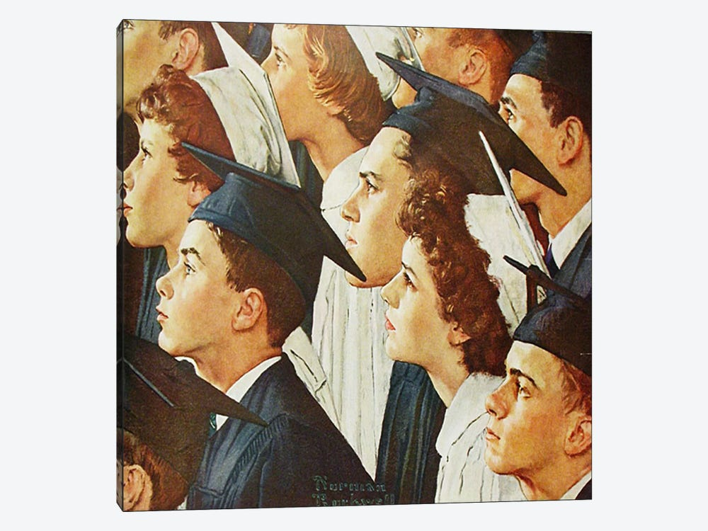 Bright Future for Banking by Norman Rockwell 1-piece Canvas Artwork
