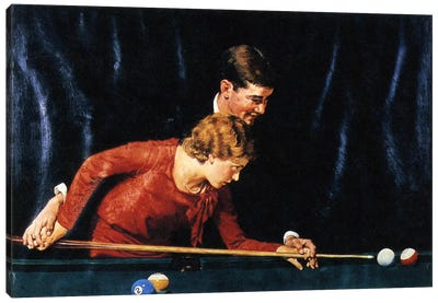 Billiards Is Easy to Learn Canvas Art Print