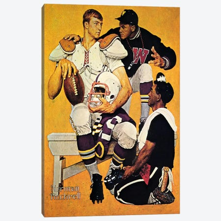 The Recruit Canvas Print #NRL36} by Norman Rockwell Canvas Art
