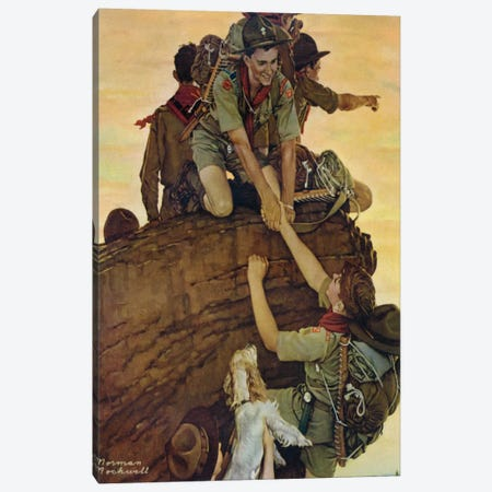 All Together Canvas Print #NRL383} by Norman Rockwell Canvas Artwork