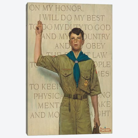 I Will Do My Best Canvas Print #NRL385} by Norman Rockwell Art Print
