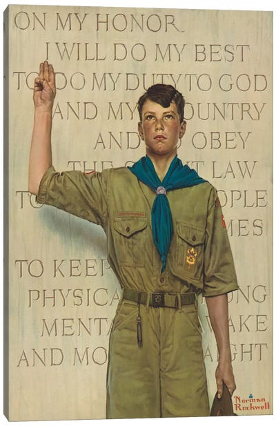 I Will Do My Best by Norman Rockwell Art Print