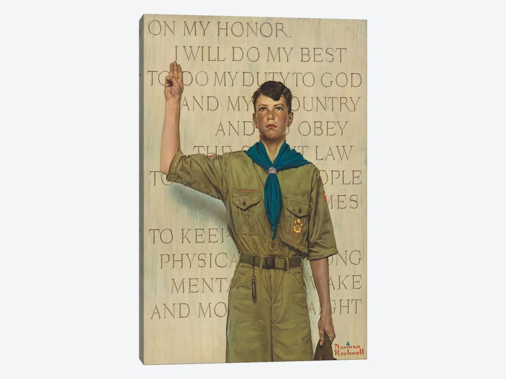 I Will Do My Best by Norman Rockwell 1-piece Canvas Art