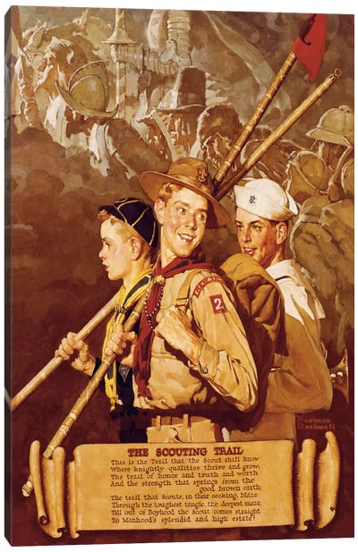 The Scouting Trail Canvas Art Print