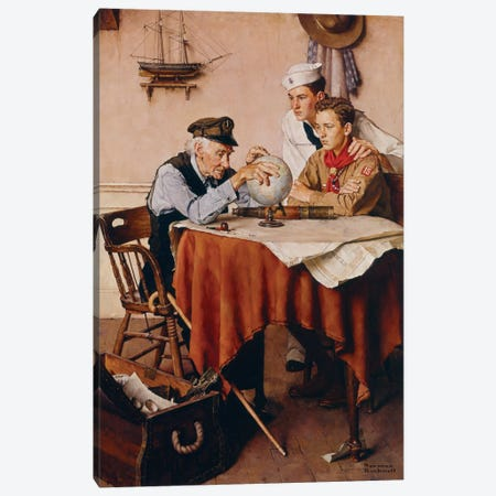Scouts of Many Trails Canvas Print #NRL388} by Norman Rockwell Canvas Art