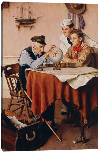 Scouts of Many Trails Canvas Art Print