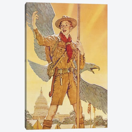 On to Washington Canvas Print #NRL390} by Norman Rockwell Canvas Art Print