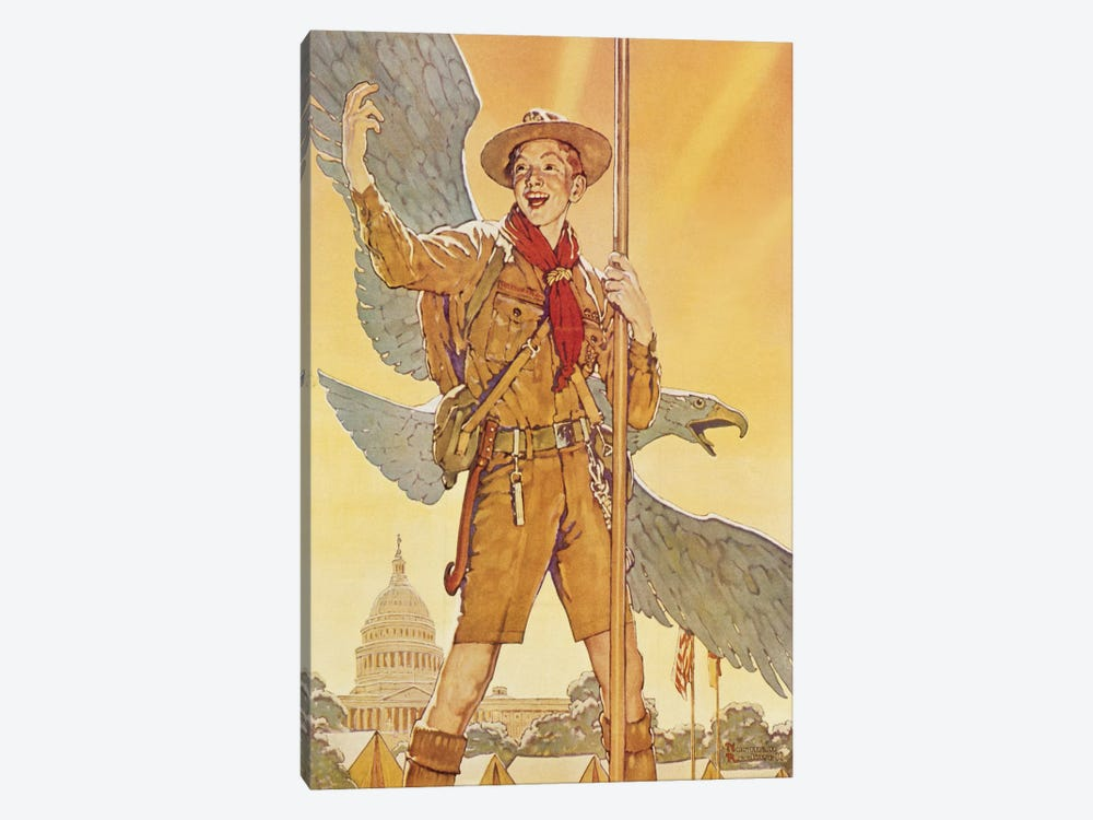 On to Washington by Norman Rockwell 1-piece Canvas Artwork