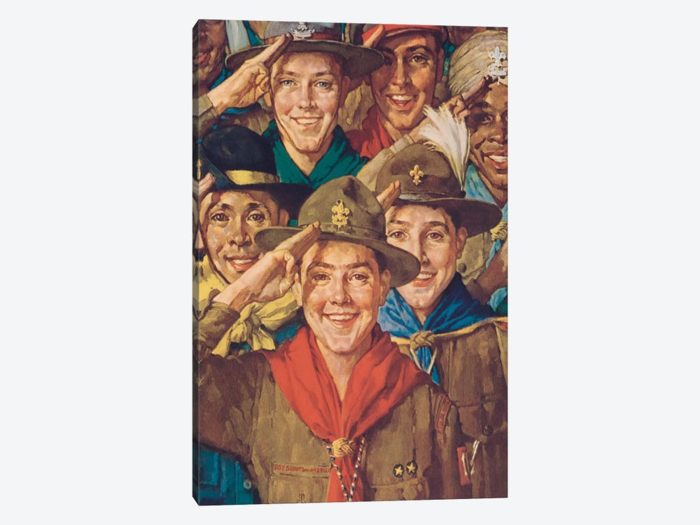 An Army of Friendship by Norman Rockwell 1-piece Canvas Print