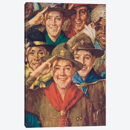 An Army of Friendship Canvas Print #NRL391} by Norman Rockwell Canvas Print