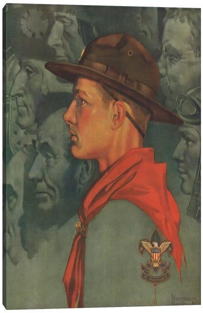 Spirit of America (Green) Canvas Print #NRL392