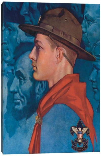 Spirit of America (Blue) Canvas Print #NRL393