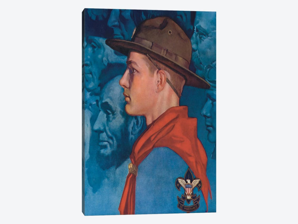 Spirit of America (Blue) by Norman Rockwell 1-piece Canvas Art Print