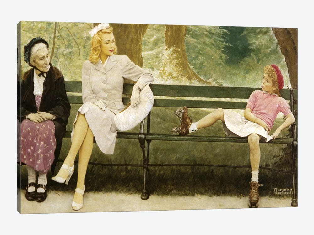 The Meeting (Full) by Norman Rockwell 1-piece Canvas Art