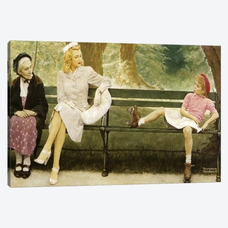 The Meeting (Full) Canvas Print #NRL398} by Norman Rockwell Art Print