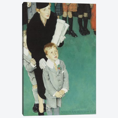 An Audience of One Canvas Print #NRL399} by Norman Rockwell Canvas Art Print
