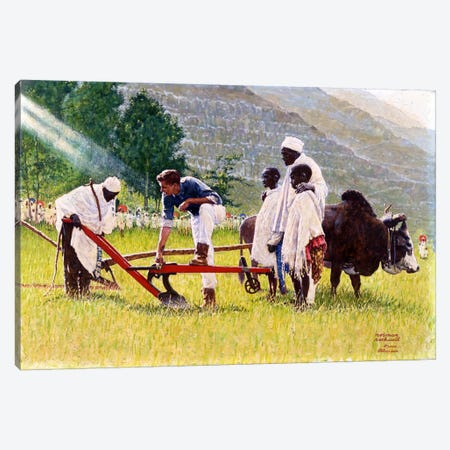 The Peace Corps in Ethiopia   Canvas Print #NRL39} by Norman Rockwell Art Print