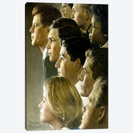The Peace Corps Canvas Print #NRL40} by Norman Rockwell Canvas Art